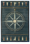 United Weavers Contours 510 24966 Compass Rose Area Rug