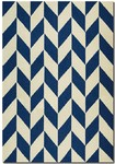 Couristan Covington 5148/8564 Herringbone Navy/Ivory Area Rug
