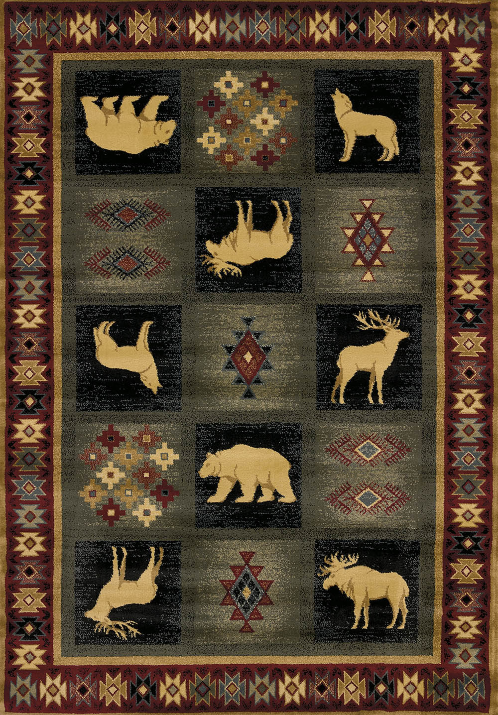 United Weavers Genesis 530 41917 Dakota Natural Area Rug