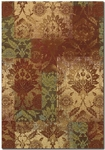 Couristan Alameda 5794/7491 Ethereal Garden Paprika/Beige Closeout Area Rug - Spring 2015