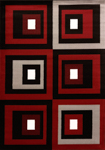 United Weavers Cristall 580 10770 Studio Red Black Closeout Area Rug