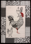 United Weavers Cristall 580 11772 BW Rooster Grey Area Rug