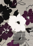 United Weavers Cristall 580 11882 Snow Blossom Plum Closeout Area Rug