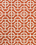 Feizy Cetara 4109F Orange/White Closeout Area Rug