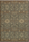 Couristan Alameda 5908/0915 Dahlia Brown/Teal Closeout Area Rug - Spring 2015