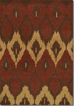 Couristan Alameda 5992/0031 Cultural Weave Maroon/Beige Closeout Area Rug - Spring 2015
