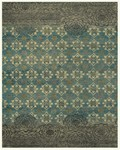 Feizy Qing 6066F Silver Sage Area Rug