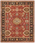 Feizy Ustad 6110F Red/Black Area Rug