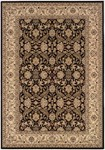 Couristan Himalaya 6259/1000 Isfahan Ebony/Antique Creme Area Rug