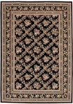 Couristan Himalaya 6262/1000 Bouquet Trellis Ebony Closeout Area Rug