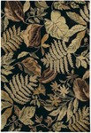 Couristan Bali 6272/1005 Tasmania/Black Closeout Area Rug