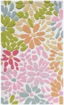 Rug Market Kids Safari 71105 Crazy Daisy Pink Multi Area Rug