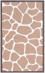 Rug Market Kids Safari 71108 Giraffe Brown/White Area Rug