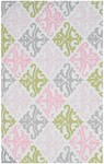 Rug Market Kids Tween 71111 Pink Damask Pink/Green/Cream Area Rug