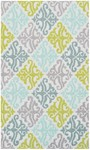 Rug Market Kids Tween 71112 Aqua Damask Blue/Green/Cream Area Rug