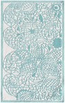 Rug Market Kids Tween 71135 Lacy Aqua/White Area Rug
