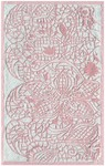 Rug Market Kids Tween 71139 Lacy Pink/White Area Rug