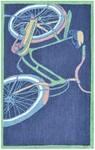 Rug Market Kids Playful Boy 71141 Bike It Navy/Green/Yellow Area Rug
