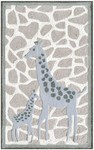 Rug Market Kids Safari 71146 Mommy & Me Grey/White Area Rug