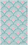 Rug Market Kids Tween 71147 Fan Fan Teal/Rose/White Area Rug