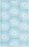 Rug Market Kids Tween 71148 Glory Aqua/White Area Rug