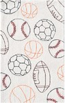 Rug Market Kids Sporty 71154 Balls Cream/Black/Red/Orange Area Rug