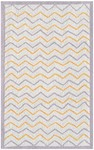 Rug Market Kids Tween 71155 Ziggy-Zaggy White/Grey/Gold Area Rug