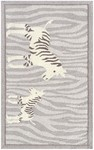 Rug Market Kids Safari 71157 Papa & Me Grey/White Area Rug