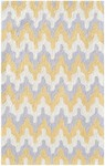 Rug Market Kids Tween 71162 Surge Yellow/Grey/White Area Rug