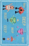 Rug Market Kids Playful Boy 71172 Beep Beep Robots Blue/Red/Yellow Area Rug