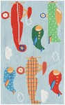 Rug Market Kids Playful Boy 71173 Air Show Off Blue/Red/Green Area Rug