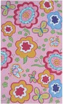 Rug Market Kids Floral 71177 Pink Spring Time Pink/Yellow/Green Area Rug