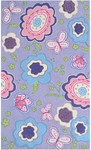 Rug Market Kids Floral 71178 Purple Spring Time Purple/Pink/Blue Area Rug