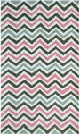 Rug Market Kids Tween 71180 Pink Chevy White/Pink/Grey Area Rug