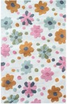 Rug Market Kids Floral 71186 Spring Flower Bloom White/Multi Area Rug