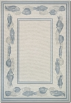 Couristan Dolce 7131/0330 Corvina Ivory/Light Blue Area Rug