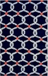Rug Market Statement 72543 Sailor's Knot Blue/Red/White Area Rug