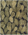 Feizy Leafscape 7274F Black Closeout Area Rug