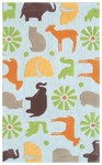 Rug Market Kids 74030 Menagerie Blue/Multi Closeout Area Rug