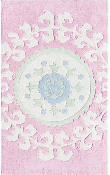 Rug Market Kids 74043 Suzani Pink/White/Blue Closeout Area Rug