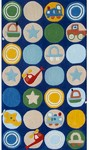 Rug Market Kids 74055 Zoom Blue/Multi Closeout Area Rug