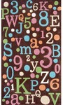 Rug Market Kids 74058 Back to School Brown/Multi Closeout Area Rug