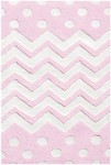 Rug Market My First Rug 74075 Zigzag Dot Pink Area Rug