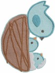 Rug Market Kids Safari 74081 Just Hatched Blue/Brown/White Area Rug