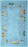 Rug Market Kids Playful Boy 74086 Cityscape Blue/Yellow/White Area Rug