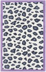 Rug Market Kids Safari 74093 Cheatico Purple White/Grey/Purple Area Rug