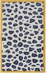 Rug Market Kids Safari 74094 Cheatico Yellow White/Grey/Yellow Area Rug