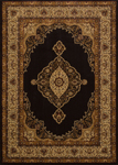 United Weavers Affinity 750 01270 Pervana Black Area Rug