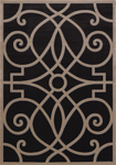 United Weavers Subtleties 751 00377 Le Garrette Charcoal Area Rug