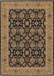 Couristan Royal Kashimar 8132/2606 All Over Vase Black/Deep Maple Closeout Area Rug - Spring 2016